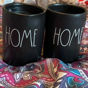 """NWT Rae Dunn set of two """"Home"""" candles"""